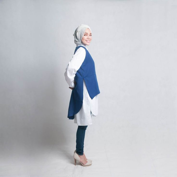 Afrin Double Tee Top in Cobalt Blue. Wear by itself, with a tshirt, or part of your modesty clothing.