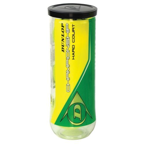 Dunlop Championship Hard Court Tennis Balls 12 Pack 3 Balls Per