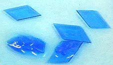 Formação de cristais de sulfato de cobre