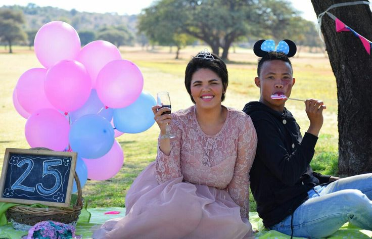 #celestedqstarr #25th birthday  Pink and blue #balloons #Banner Tulle and Lace dress #RedWine #Besties Photo by #PhotoJeniQ
