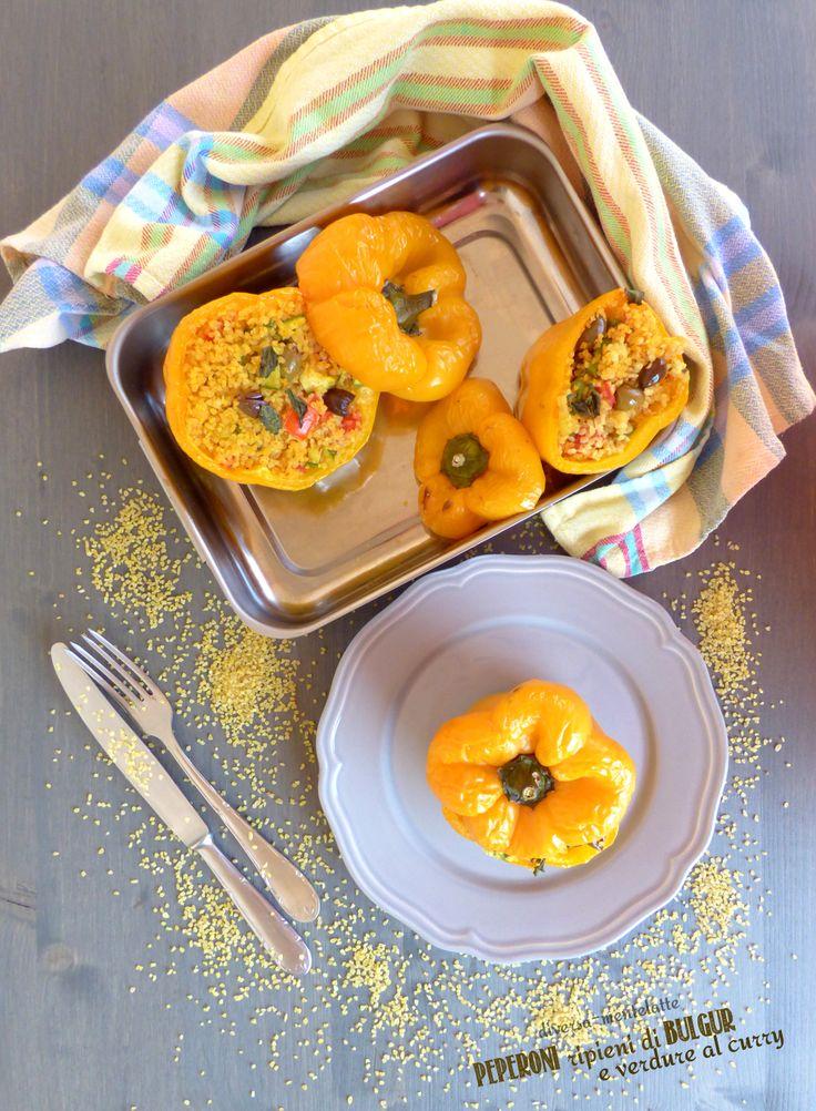 #peperoni ripieni con #bulgur e verdure al curry...