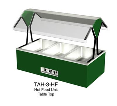 Duke TAH-3-HF 2401 44-3/8-in Hot Food Table Top Buffet w/ (3) Hot Wells, Stainless Top, 240/1 V