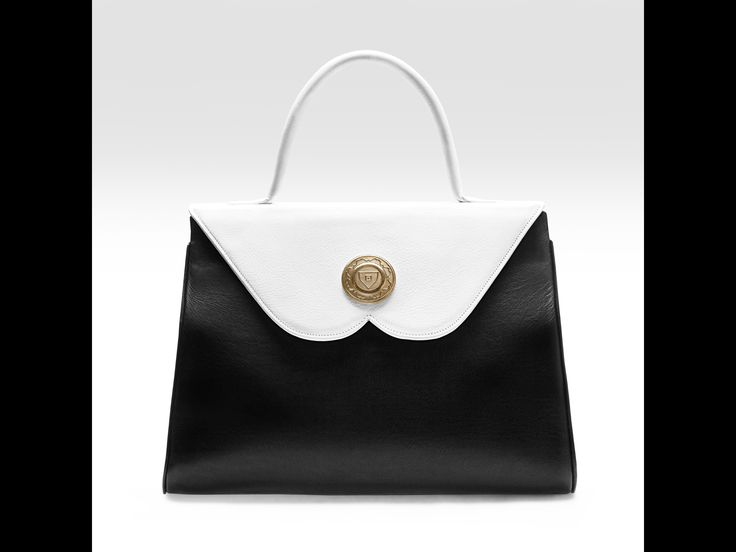 The unique B-shaped flap handbag-front