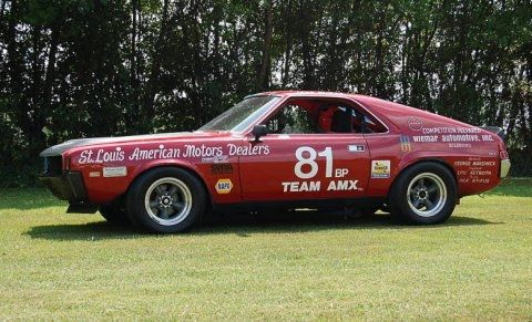 Amc Amx Vintage Race Car Trans Am Series Pinterest
