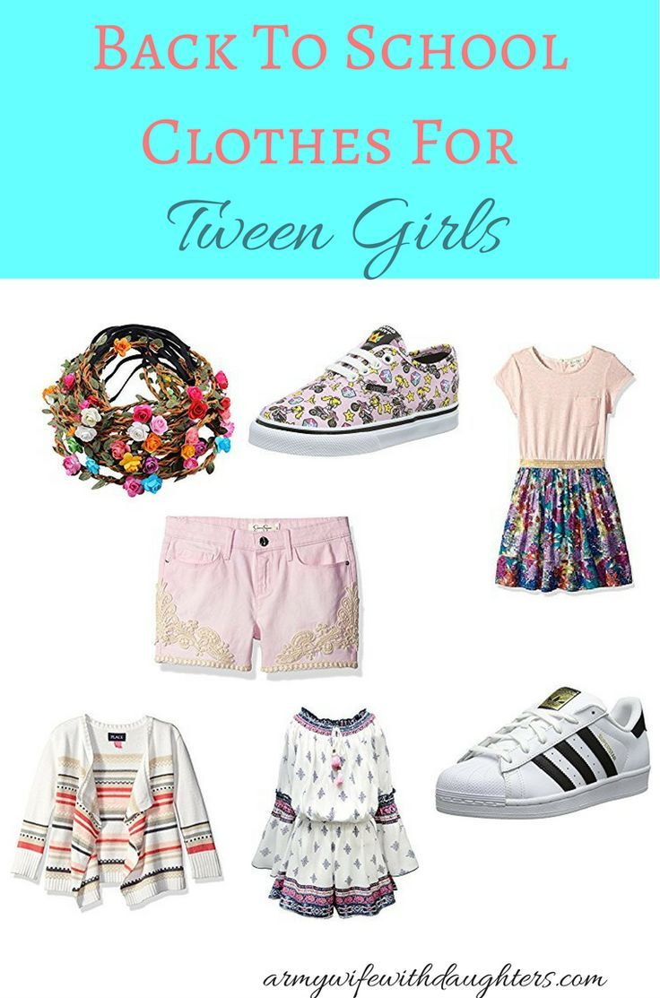 Back to school clothes, shoes and accessories for tween girls. It's almost back to school time again. Here are some great products for tween girls.