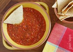 This spicy red salsa is made with fresh tomatoes, roasted jalapeño, garlic and cilantro, pureed in a blender then simmered until the tomatoes deepen in color. Serve with your favorite baked chips and Sinless Margaritas!  There are so many varieties of Mexican salsas with different levels of heat, some chunky, some smooth, some raw and others cooked. This one is smooth and cooked, perfect for topping a burrito bowl or simply enjoying with some tortilla chips. I love the smoky flavor of…