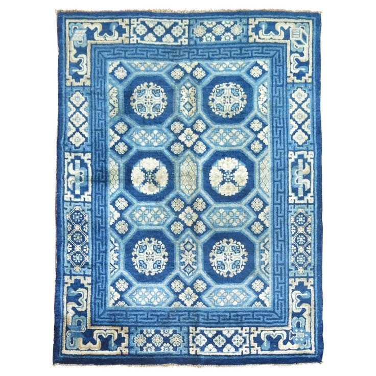 Antique Chinese Peking Small Rug | From a unique collection of antique and modern chinese and east asian rugs at https://www.1stdibs.com/furniture/rugs-carpets/chinese-rugs/