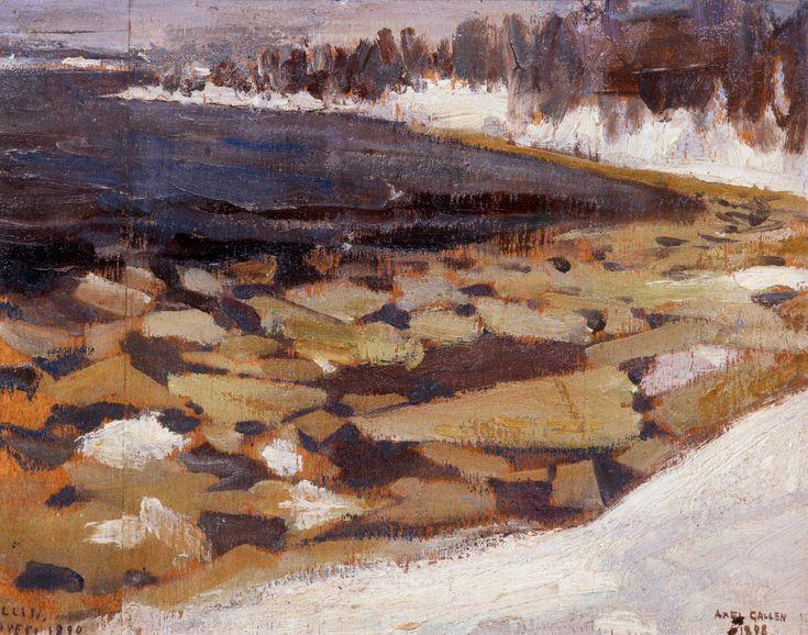 Ice Floes at Kalela's Shore (Akseli Gallen-Kallela - 1899)