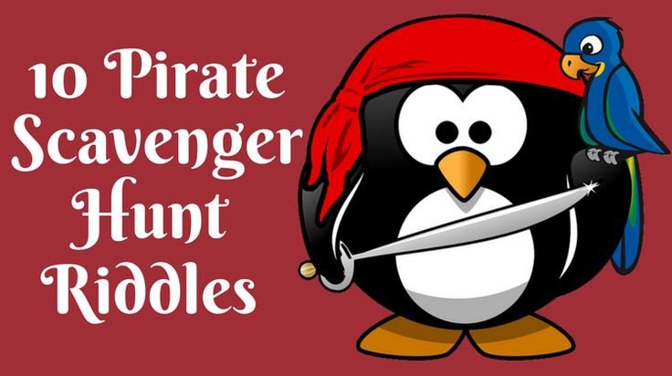 Here are 10 pirate scavenger hunt riddles that are great for using at a kid's birthday party - also includes a free printable riddle sheet