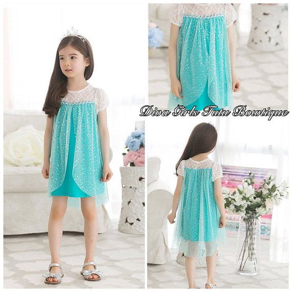 Elsa Short Sleeve Dress Elsa DressToddler by Divagirltutubowtique, $37.00