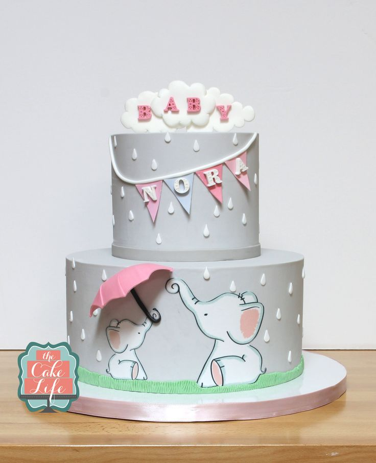 Painted Baby Shower Cake