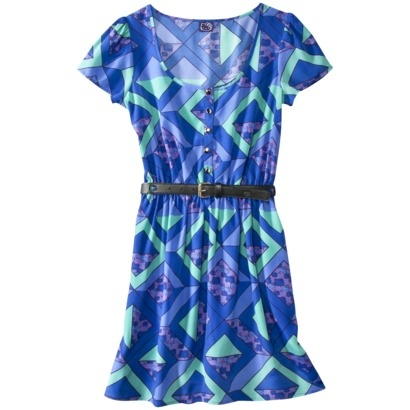 Hello Kitty® Juniors Button Front Dress - Blue.Opens in a new window