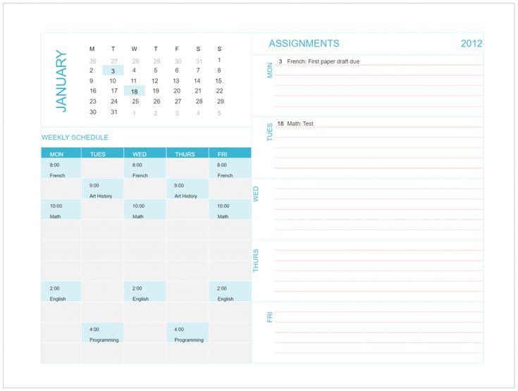 schedule excel