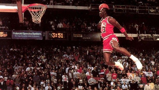 "Michael Jordan wearing the ""Cement"" Air Jordan III"