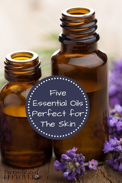 5 Great Essential Oils for Your Skin - Here are some tips for using lavender oil, lemon oil, rosemary oil, ylang ylang oil, and frankincense for skin care.