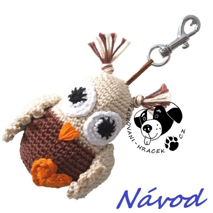Sovička - přívěsek ....... návod na háčkování (sova) ______________  #sova#owl#háčkovaná#crochet#návod#pattern#PDF#hračka#toy