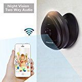 DMZOK Mini WiFi Camera, Wireless Security IP Camera, Nanny Cam, HD 720P Home Security Camera with Night Vision Two Way Audio Motion Detection, Baby Camera Pet Monitor   QUICK & EASY SETUP: Sonic Recognition Technology featuring One Key WiFi Configuration makes it quick and easy to connect...