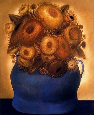 """Подсолнухи"" Фернандо Ботеро (исп. Fernando Botero, р. 1932) – современный колумбийский художник. Биография, картины: http://contemporary-artists.ru/Fernando_Botero.html"