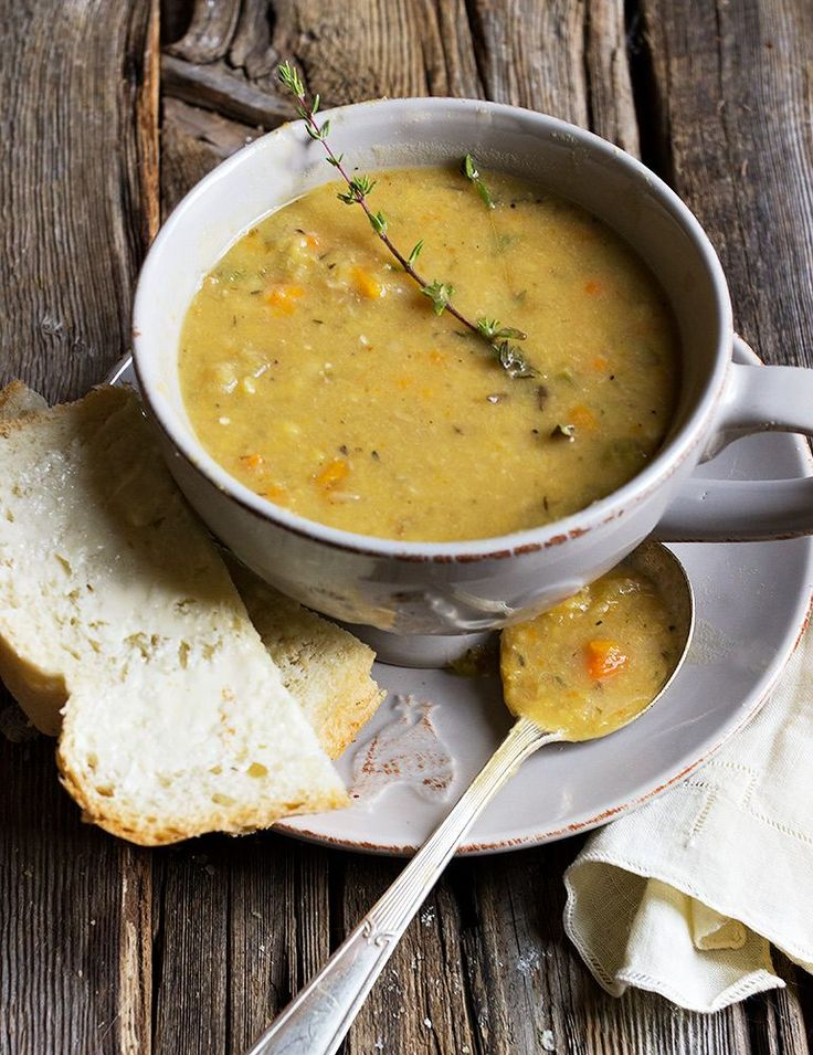 Quebec-style Yellow Split Pea Soup - a perfect use for your left-over ham bone!