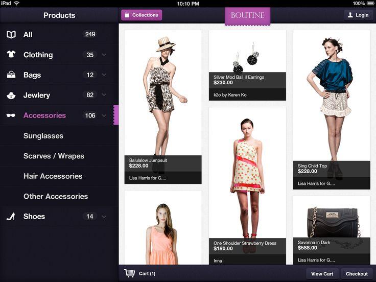 Boutine iPad App  by Jan Losert