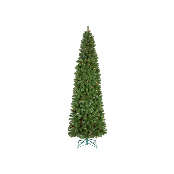 9ft Prelit Artificial Christmas Tree Alberta Spruce Multicolored Lights - Wondershop, Green
