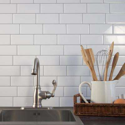 metro campagnola 1156 in w x 838 in h white peel and stick self - Abnehmbare Backsplash Lowes