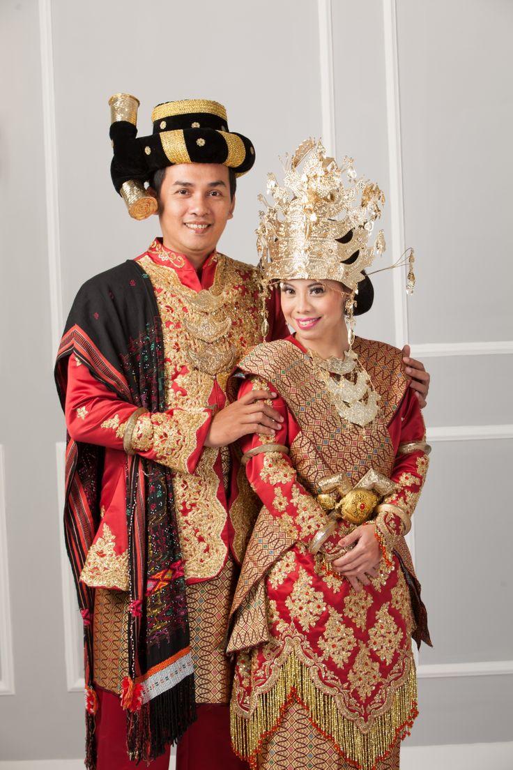prewedding photo wear traditional wedding costume from north sumatera island-Indonesia