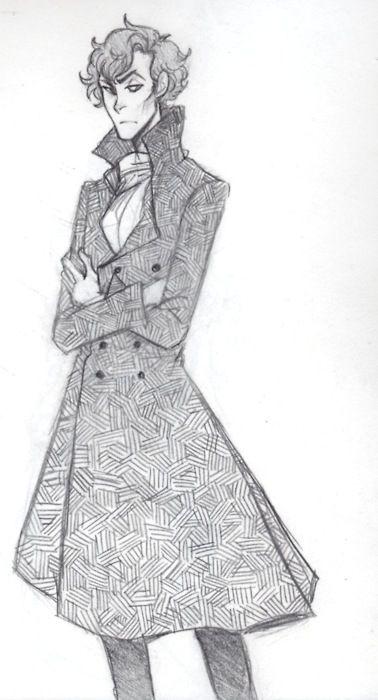 sherlock+bbc+fanart   Sherlock Fan Art by Weaslee ((I don't watch Sherlock, but the art is fantastic.))