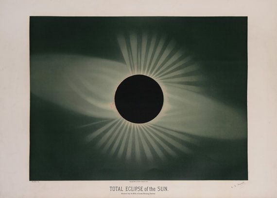 Etienne Leopold Trouvelot : Total Eclipse of by RenfieldsGarden