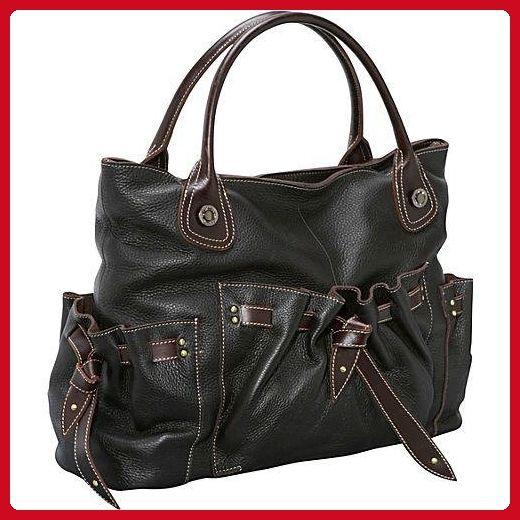Amerileather Thalia Handbag 3 Color (1803-148) (espresso) - Top handle bags (*Amazon Partner-Link)