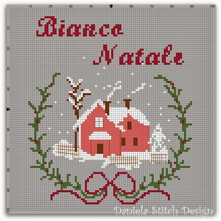 La Casetta Dei Dipinti -Daniela Stitch Design: Bianco Natale- Free