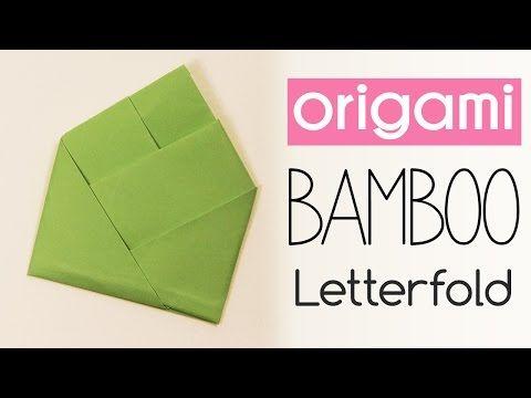 Origami Bamboo Letter Fold - Paper Kawaii