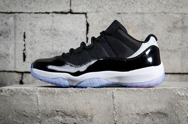 947d80b79977 Cheapest Air Jordan 11 Retro Low Concord 528895-153 Mens Basketball Shoes  Black White Discount Sale