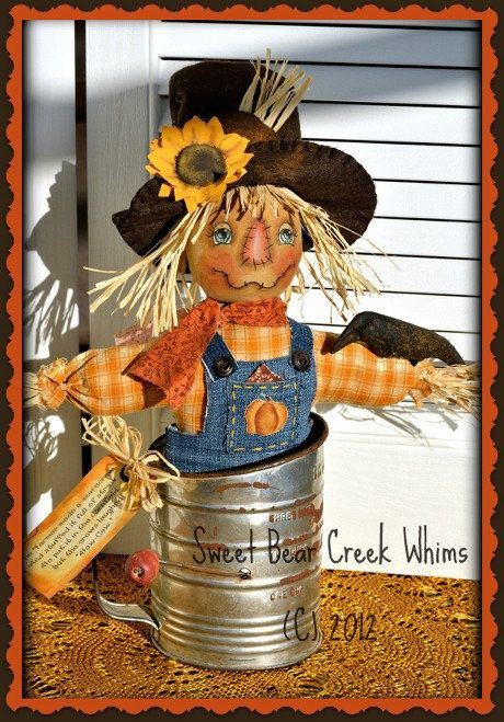 Primitive Scarecrow Pattern Fall Make Do by SweetBearCreekWhims