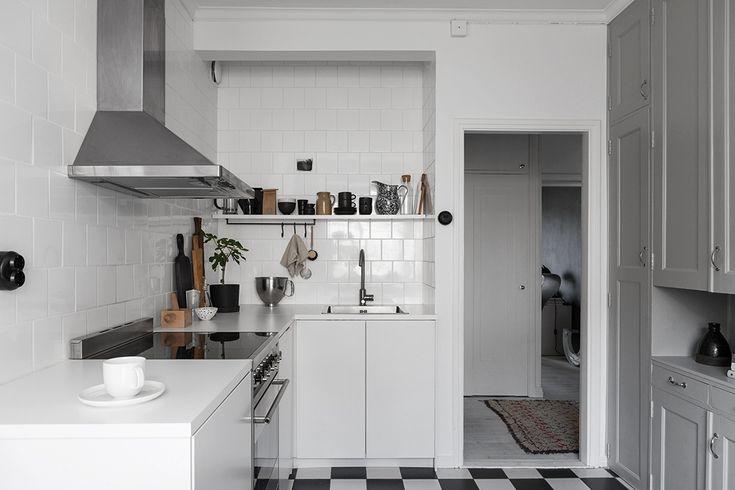 Oerhört smakfullt renoverat kök i vinkel