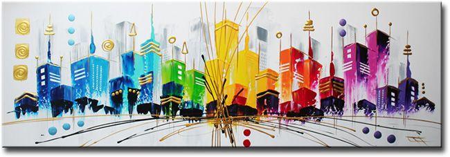 Schilderij City of Shadows van Ines - Kunstvoorjou.nl  Schilderij ...