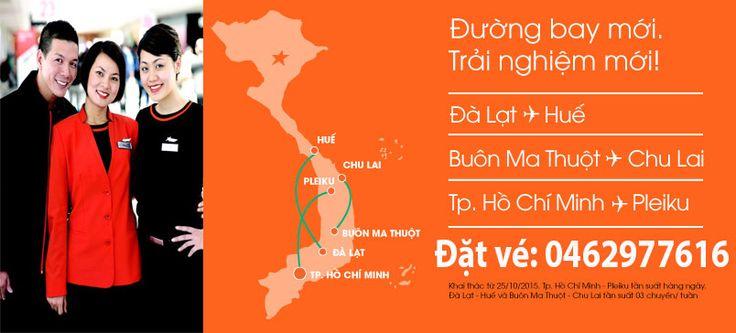 Vé máy bay Chu Lai đi Buôn Ma Thuột khuyến mại Jetstar