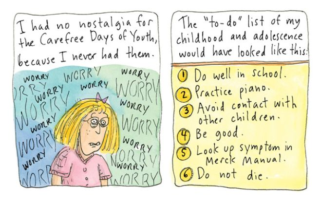 "The last pic broke my heart. :'( ""New Yorker Cartoonist Roz Chast Illustrated Meditation on Aging, Illness & Death"" via Brain Pickings"