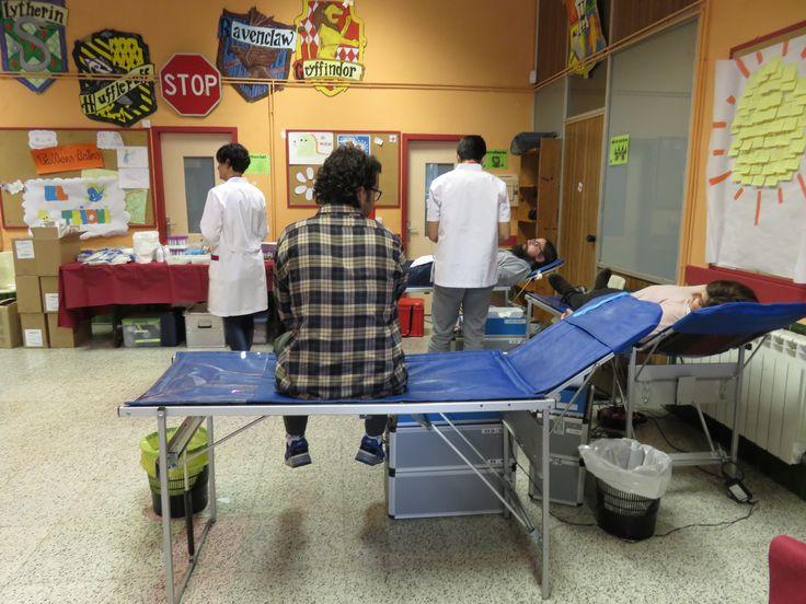 ApS Banc de Sang #Salesians Sabadell. Descansant després de la donació de sang.