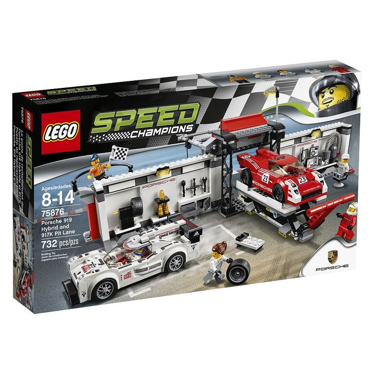 Recreate a Le Mans-style race day with the Porsche team, matching the vintage Porsche 917K against the modern 919 Hybrid. Prepare for the race with the car lift and assorted tools in the dual-purpose garage. Then fold out fully to create a pit stop and monitor the race for the checkered flag. Includes 5 Minifigures: a vintage Porsche racing driver, modern Porsche racing driver, 2 mechanics and a race official.<br><Br> Includes 5 Minifigures: a vintage Porsche racing driver, modern Porsche…