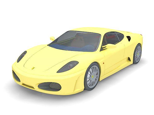 Ferrari F430 Sports Car 3d Model 3ds Max Files Free Download Modeling 35156 On Cadnav Car 3d Model Sports Car Model