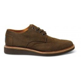 Chocolate Aviator Twill Men's Brogues | dress him up with this awesome new silhouette! #royobriendford #fashion