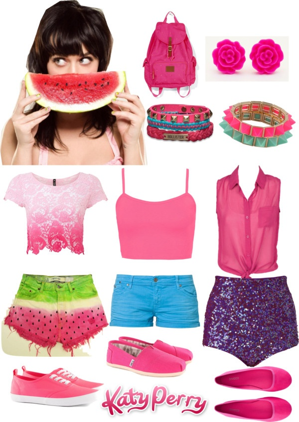 """katy perry watermelon"" by karenna-delevingne ❤ liked on Polyvore"