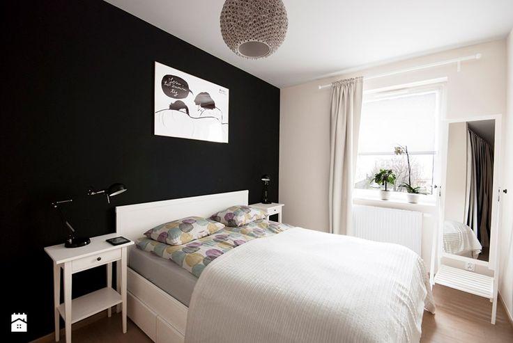 Mieszkanie dla młodych - Mała sypialnia małżeńska, styl nowoczesny - zdjęcie od Za murami za dachami