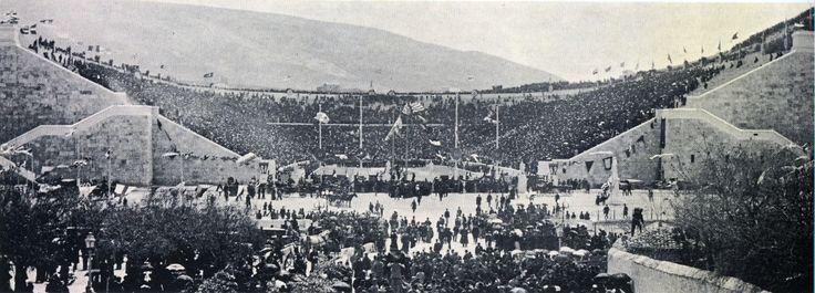 panathenaic stadium - first day of 1896 olympics