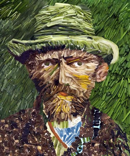 10 Famous Paintings Recreated in Vegetables - inspiration for creating art from found objects
