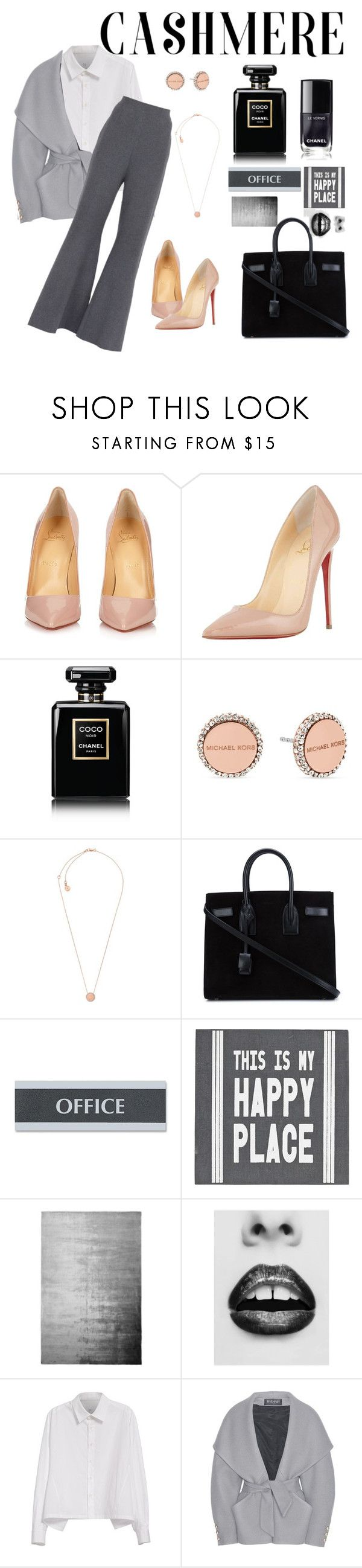 """Monocromatico."" by bizyhalik-1 ❤ liked on Polyvore featuring Christian Louboutin, Chanel, Michael Kors, Yves Saint Laurent, U.S. Stamp & Sign, Pier 1 Imports, Designers Guild, Y's by Yohji Yamamoto, Balmain and STELLA McCARTNEY"