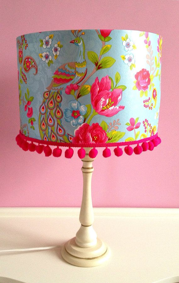 Pip Studio Lamp Shade in Flowers and Birds Blue by QueenofShades, £40.00