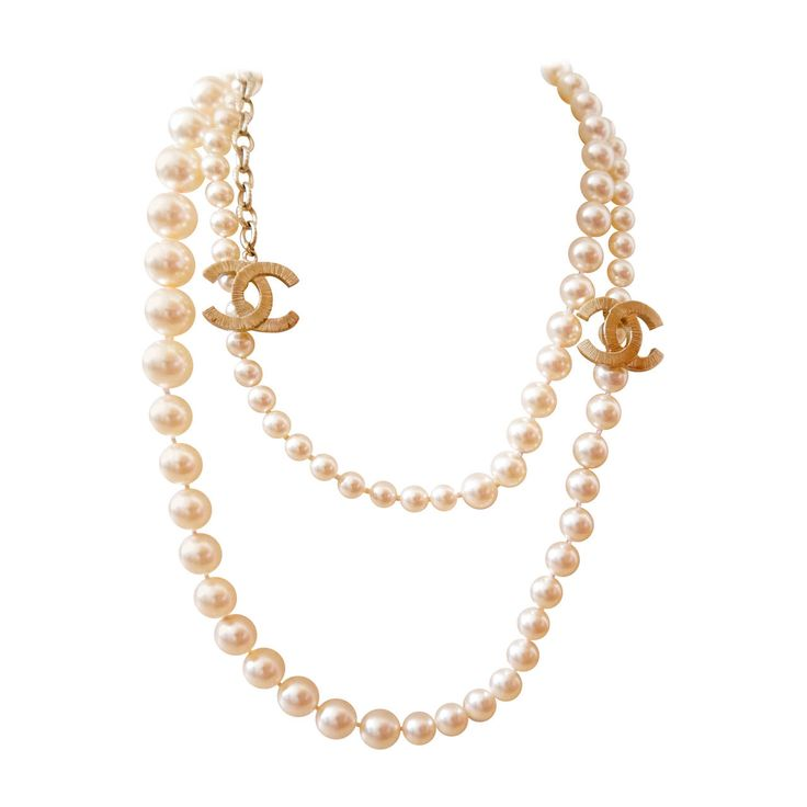 chanel pearl necklace. new chanel pearl necklace