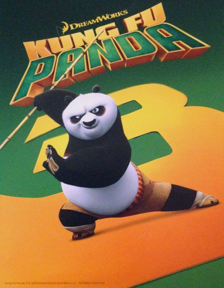 """MOVIE - Kung Fu Panda 3 """"2016"""" (Genre: Action/Adventure) Starring: Jack Black as Po, Bryan Cranston as Li, Dustin Hoffman as Shifu, Angelina Jolie as Tigress, J.K. Simmons, Kai, Jackie Chan as Monkey, Seth Rogen as Mantis, Lucy Liu as Viper, David Cross as Crane, Kate Hudson as Mei Mei & James Hong as Mr. Ping. Plot: Continuing his """"legendary adventures of awesomeness"""", Po must face two hugely epic, but different threats: one supernatural and the other a little closer to his home."""